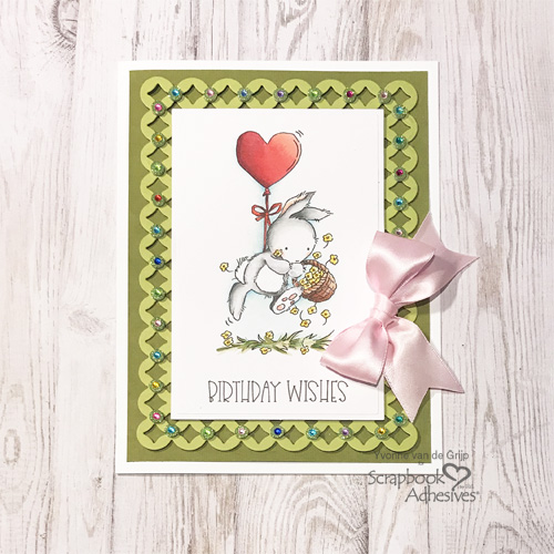 Jeweled Birthday Wishes Card by Yvonne van de Grijp for Scrapbook Adhesives by 3L