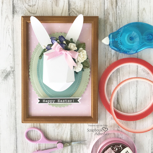 Frame Easter Bunny Project by Yvonne van de Grijp for Scrapbook Adhesives by 3L