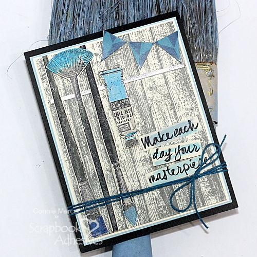 Make Your Masterpiece Card Tutorial by Connie Mercer for Scrapbook Adhesives by 3L