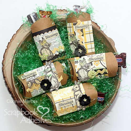 Pillow Box Easter Treats by Connie Mercer for Scrapbook Adhesives by 3L