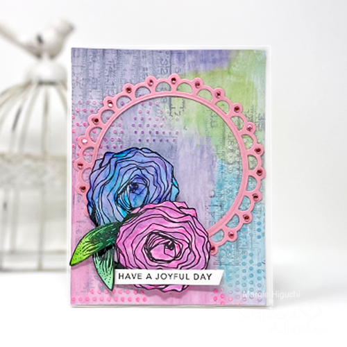 Joyful Day Mixed Media Card by Margie Higuchi for Scrapbook Adhesives by 3L