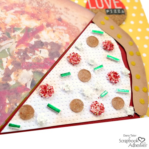 Pizza Love Scrapbook Layout by Dana Tatar for Scrapbook Adhesives by 3L