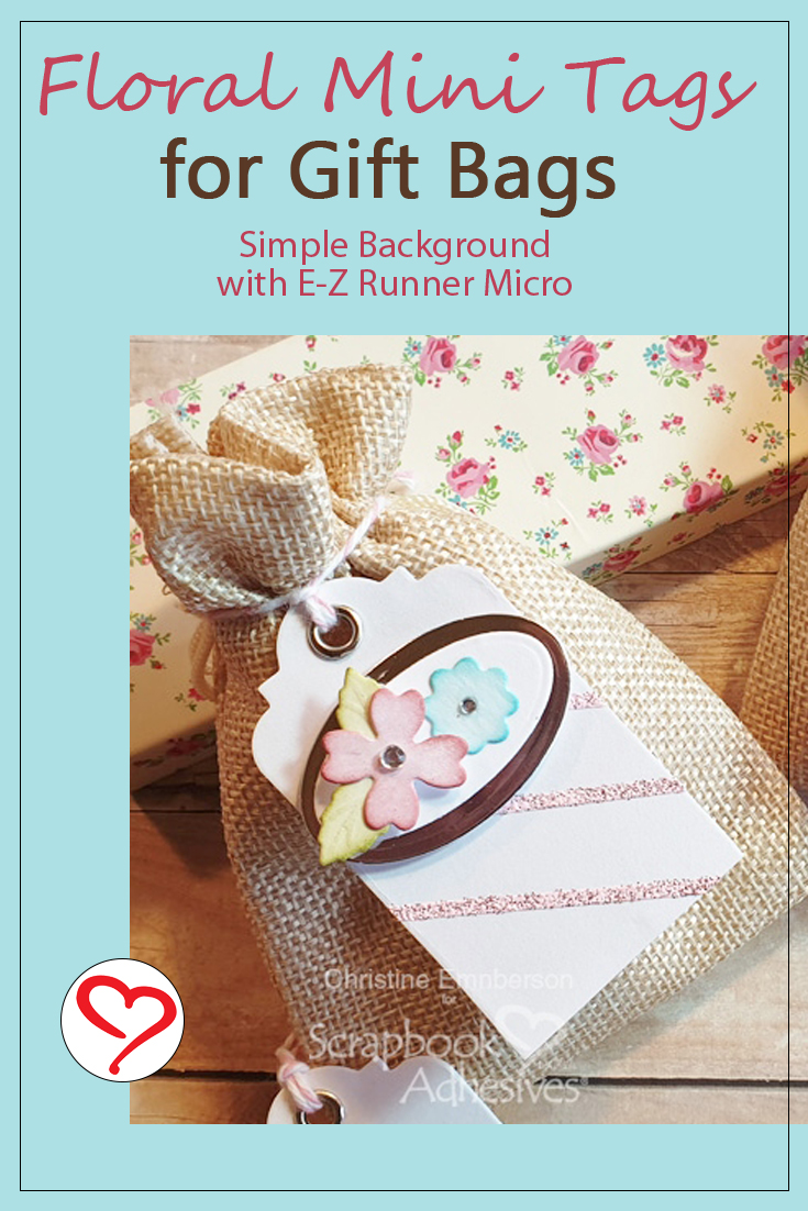 Floral Mini Tags Tutorial by Christine Emberson for Scrapbook Adhesives by 3L Pinterest 2020