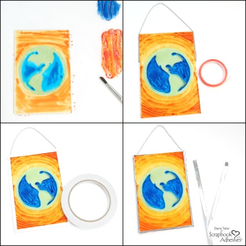 Earth Day Suncatcher by Dana Tatar for Scrapbook Adhesives by 3L