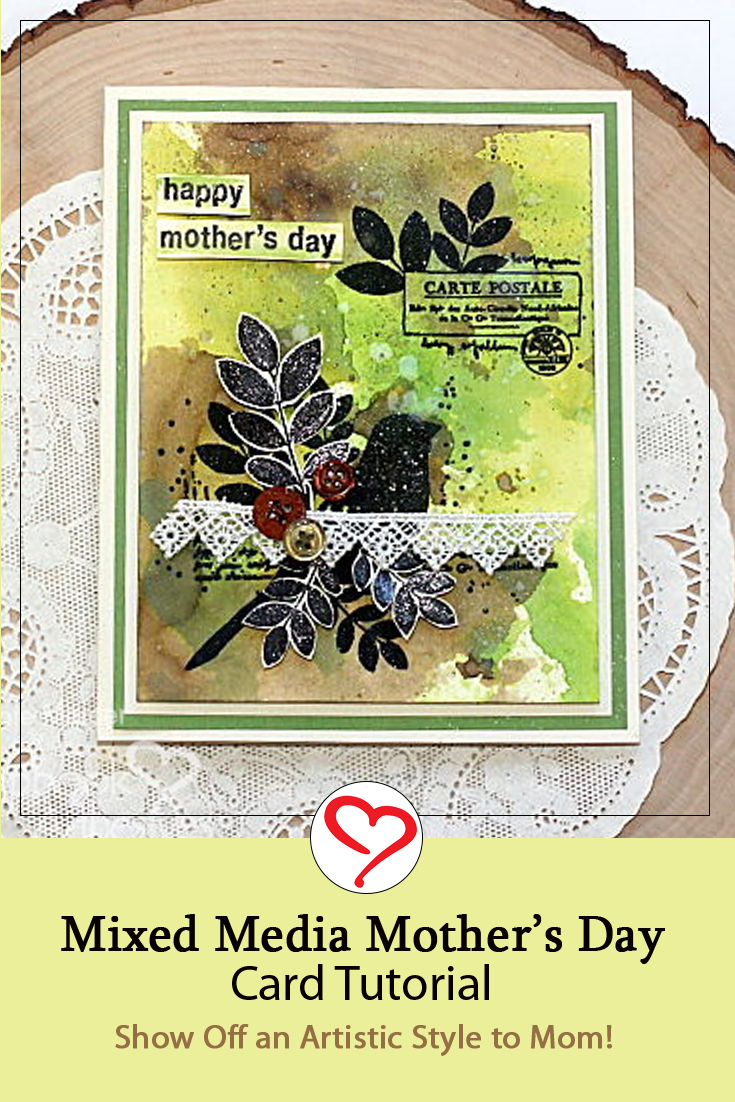 Mixed Media Style Mother's Day Card by Connie Mercer for Scrapbook Adhesives by 3L Pinterest