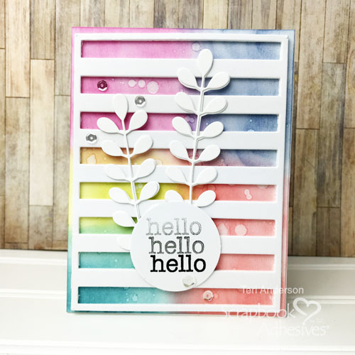 Friendship Card with Inked Background by Teri Anderson for Scrapbook Adhesives by 3L
