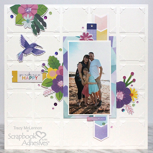 Quilted Layout Tutorial by Tracy McLennon for Scrapbook Adhesives by 3L