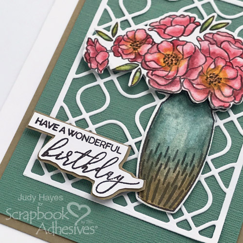Wonderful Birthday Bouquet Card by Judy Hayes for Scrapbook Adhesives by 3L