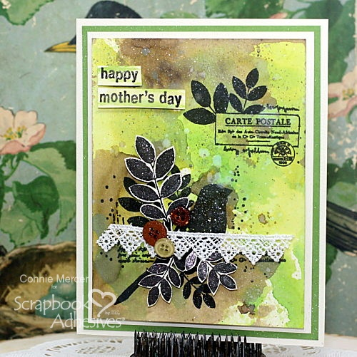 Mixed Media Style Mother's Day Card by Connie Mercer for Scrapbook Adhesives by 3L