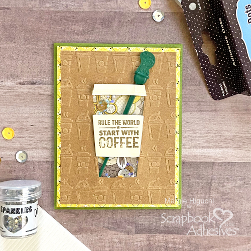 Rule the World Shaker Card by Margie Higuchi for Scrapbook Adhesives by 3L