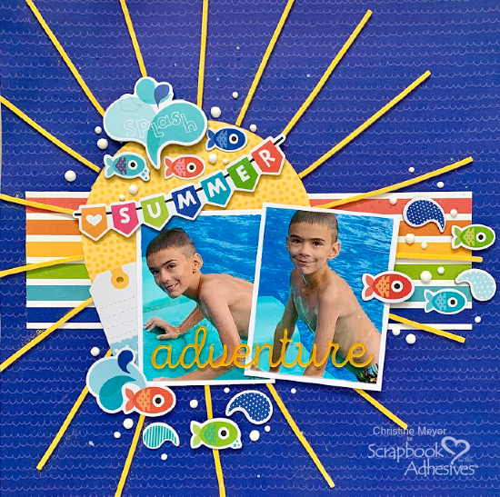 Sunshine Scrapbook Layout by Christine Meyer for Scrapbook Adhesives by 3L