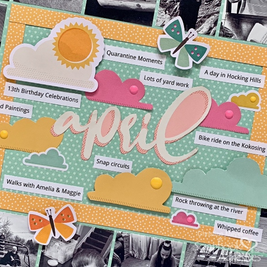 Monthly Recap Scrapbook Layout by Christine Meyer for Scrapbook Adhesives by 3L