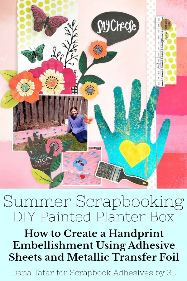 Kids Craft: Handprint Embellishment by Dana Tatar for Scrapbook Adhesives by 3L Pinterest