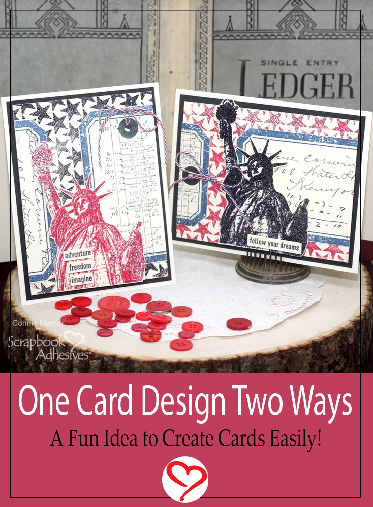 One Embossed Card Design Two Ways by Connie Mercer for Scrapbook Adhesives by 3L