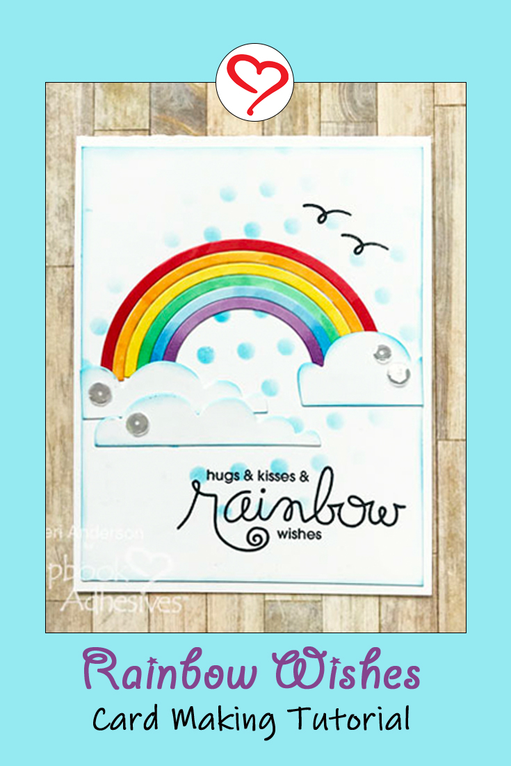 Rainbow Cards Tutorial by Teri Anderson for Scrapbook Adhesives by 3L Pinterest