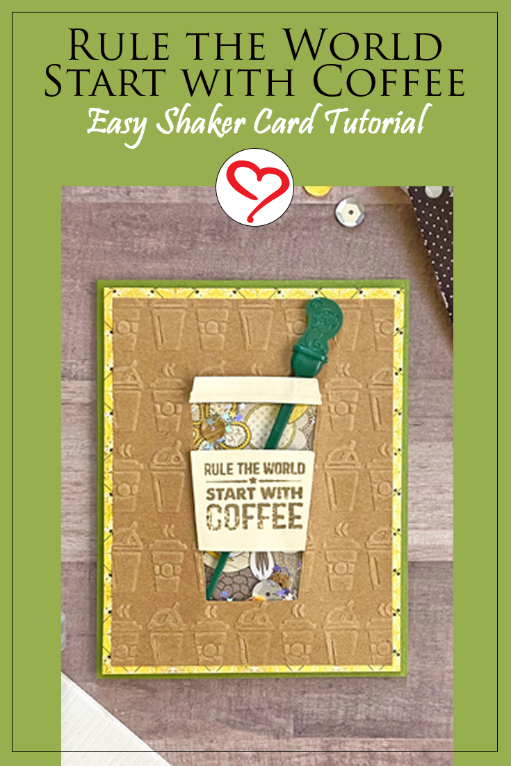Rule the World Shaker Card by Margie Higuchi for Scrapbook Adhesives by 3L Pinterest