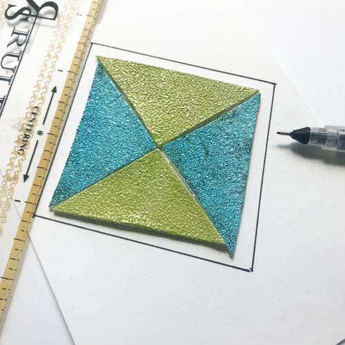 Faux Clay Tiles Tutorial by Teri Anderson for Scrapbook Adhesives by 3L