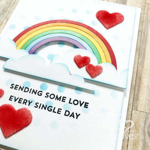 Rainbow Cards Tutorial by Teri Anderson for Scrapbook Adhesives by 3L