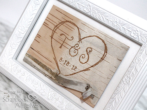 Framed Birch Bark Decor by Tracy McLennon for Scrapbook Adhesives by 3L