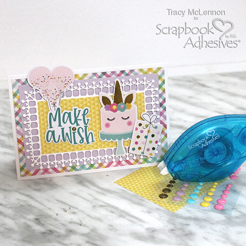 Make a Wish Birthday Card by Tracy McLennon for Scrapbook Adhesives by 3L