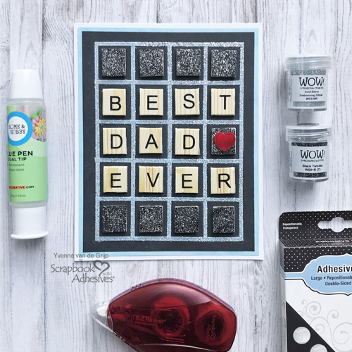 Grid Father's Day Card By Yvonne van de Grijp for Scrapbook Adhesives by 3L