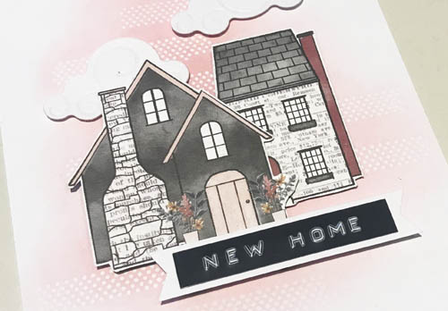 New Home Card with Resist Technique by Yvonne van de Grijp for Scrapbook Adhesives by 3L