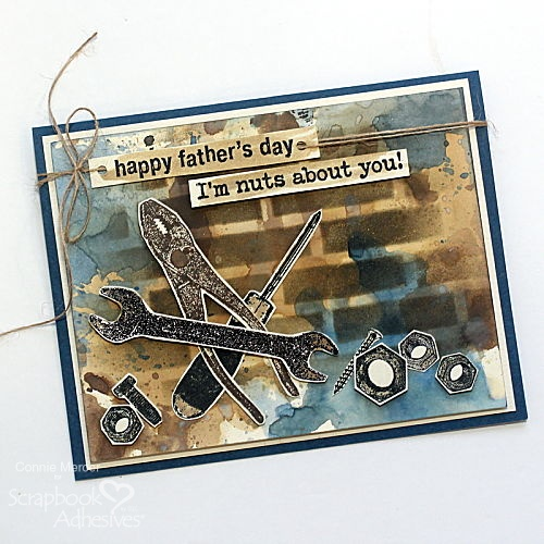 Dimensional Father's Day Card by Connie Mercer for Scrapbook Adhesives by 3L