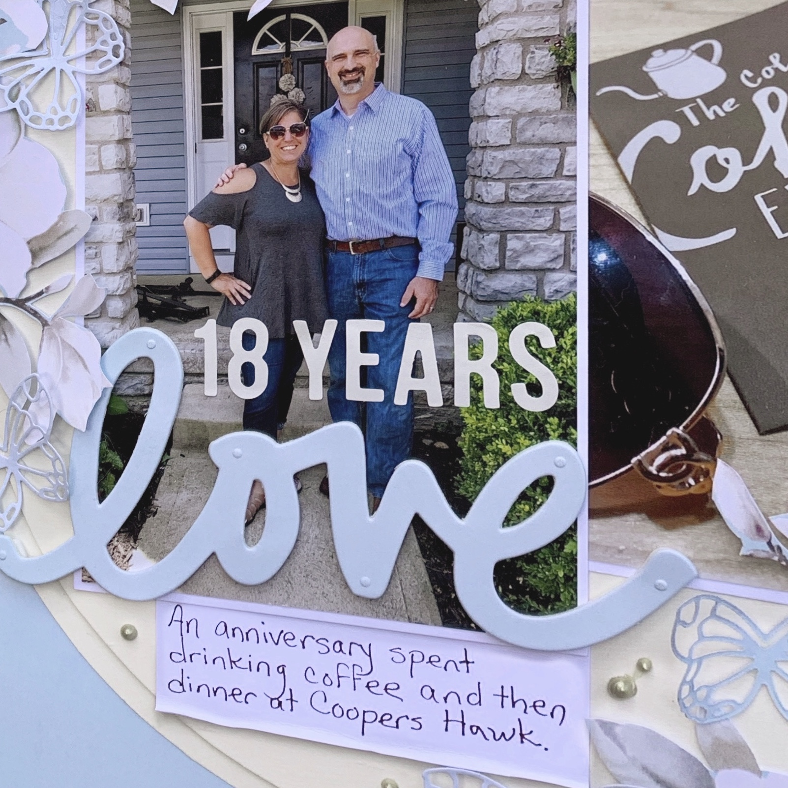 18 Years of Love Scrapbook Layout by Christine Meyer for Scrapbook Adhesives by 3L