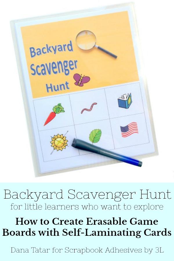 Kids Craft: Backyard Scavenger Hunt by Dana Tatar for Scrapbook Adhesives by 3L Pinterest