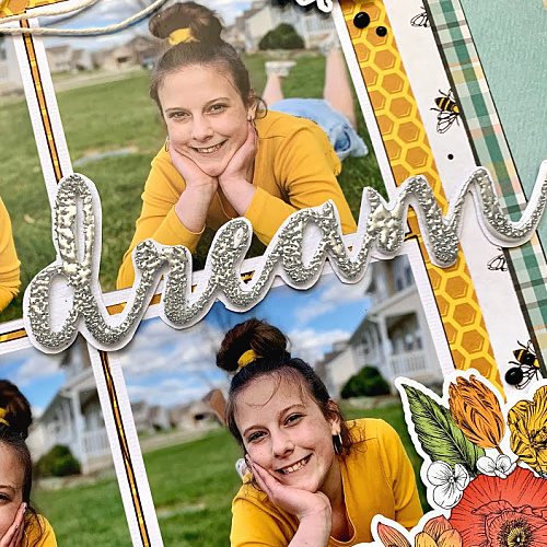 Dream Scrapbook Layout by Christine Meyer for Scrapbook Adhesives by 3L