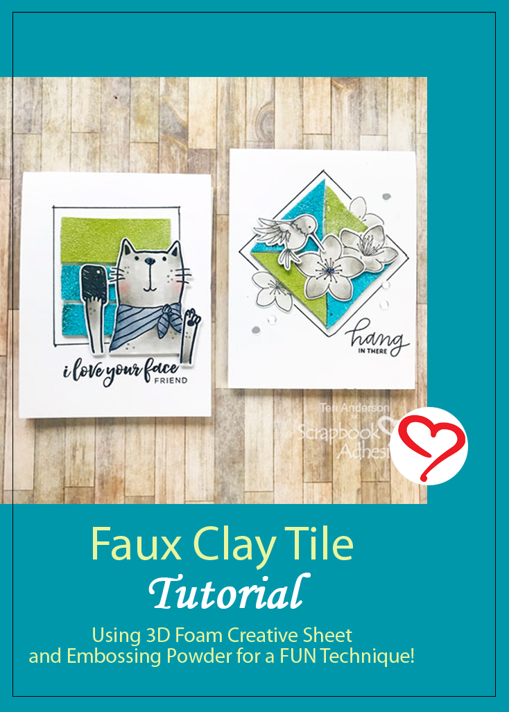 Faux Clay Tiles Tutorial by Teri Anderson for Scrapbook Adhesives by 3L Pinterest