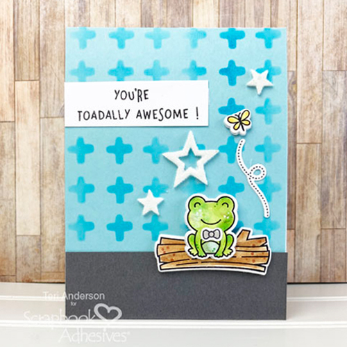 Fun Frog Card Tutorial by Teri Anderson for Scrapbook Adhesives by 3L