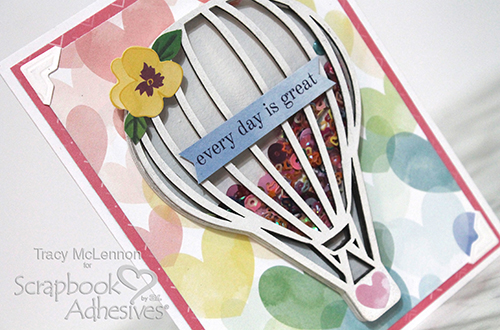 Hot Air Balloon Shaker Card by Tracy McLennon for Scrapbook Adhesives by 3L