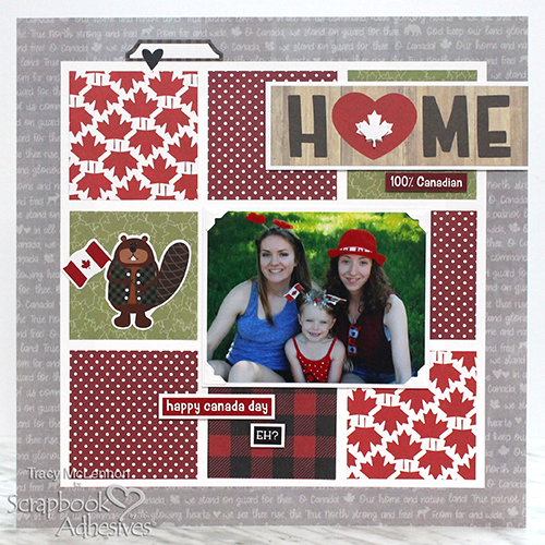 Canada Day Grid Layout by Tracy McLennon for Scrapbook Adhesives by 3L