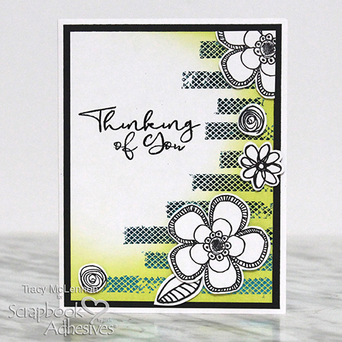 Thinking of You Embellished Card Tutorial by Tracy McLennon for Scrapbook Adhesives by 3L