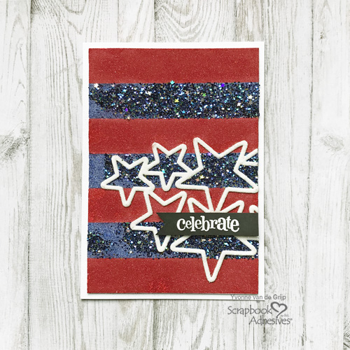 Celebrate & Sparkle for the 4th Card Tutorial by Yvonne van de Grijp for Scrapbook Adhesives by 3L
