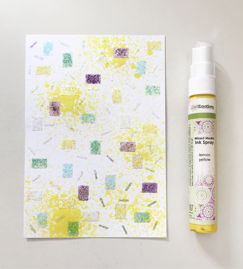 DIY Confetti Background Birthday Card by Yvonne van de Grijp for Scrapbook Adhesives by 3L