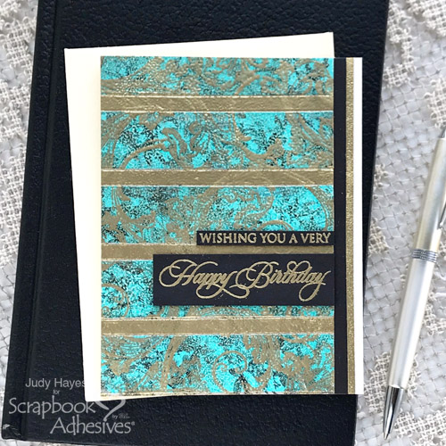 Heat Embossed Background Birthday Card by Judy Hayes for Scrapbook Adhesives by 3L