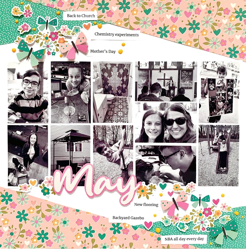May Scrapbook Layout by Christine Meyer for Scrapbook Adhesives by 3L