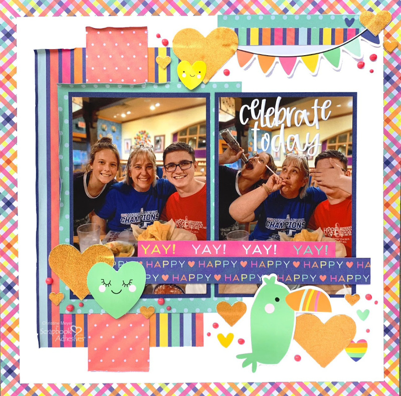 Celebrate Today Layout by Christine Meyer for Scrapbook Adhesives by 3L