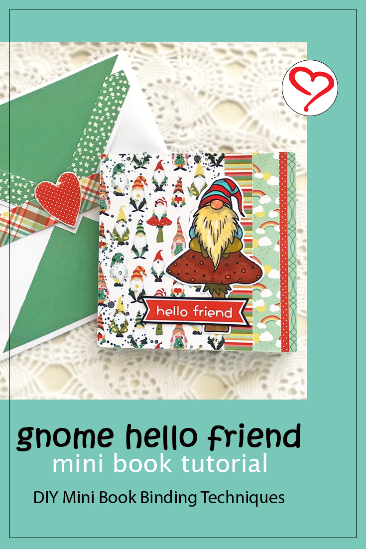 Hello Friend Mini Book by Judy Hayes for Scrapbook Adhesives by 3L Pinterest