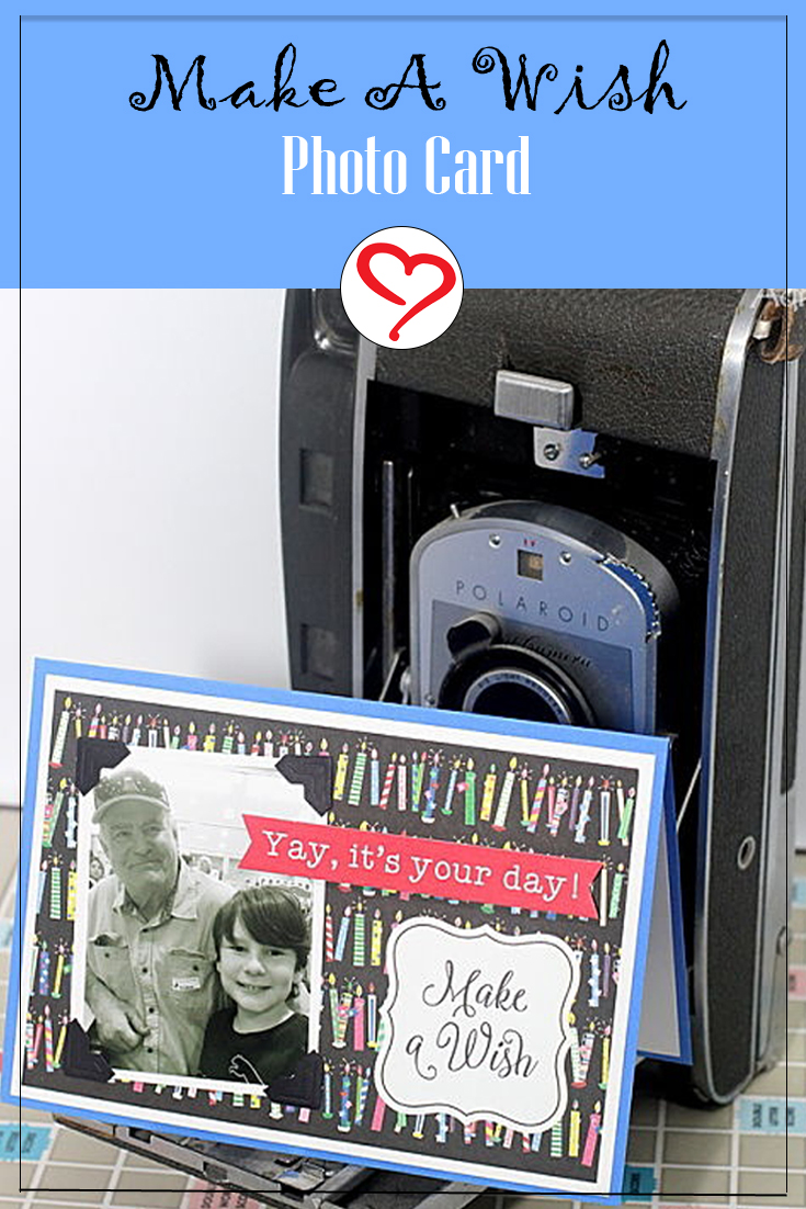 Make a Wish Photo Card by Connie Mercer for Scrapbook Adhesives by 3L Pinterest