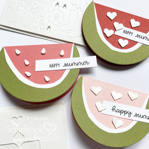 Summertime Watermelon Shaped Card Tutorial by Teri Anderson for Scrapbook Adhesives by 3L