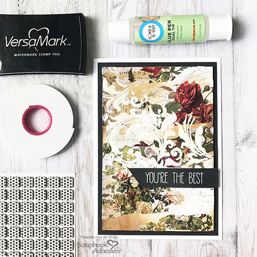 You're the Best Tissue Paper Card by Yvonne van de Grijp for Scrapbook Adhesives by 3L