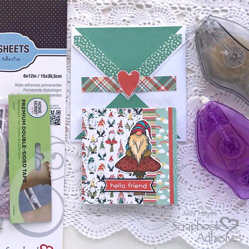 Hello Friend Mini Book by Judy Hayes for Scrapbook Adhesives by 3L
