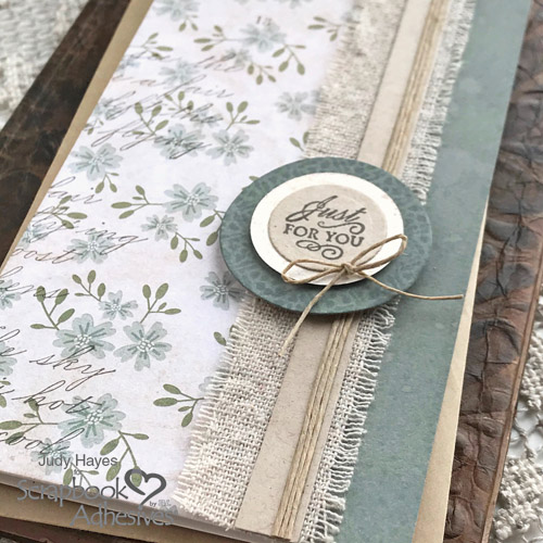 Just for You Linen Band Card by Judy Hayes for Scrapbook Adhesives by 3L