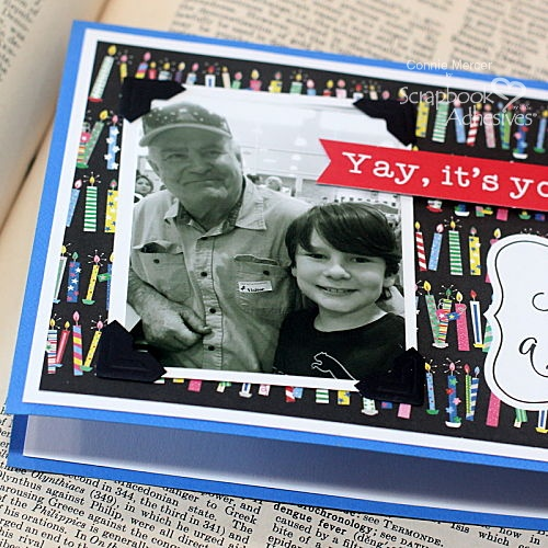 Make a Wish Photo Card by Connie Mercer for Scrapbook Adhesives by 3L