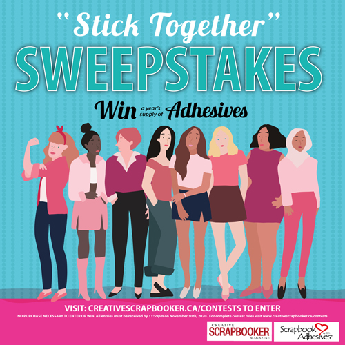 Stick Together Sweepstakes with Creative Scrapbooker Magazine Logo