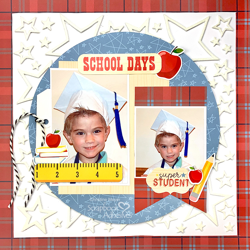 Christine Meyer School Days layout for Scrapbook Adhesives by 3L