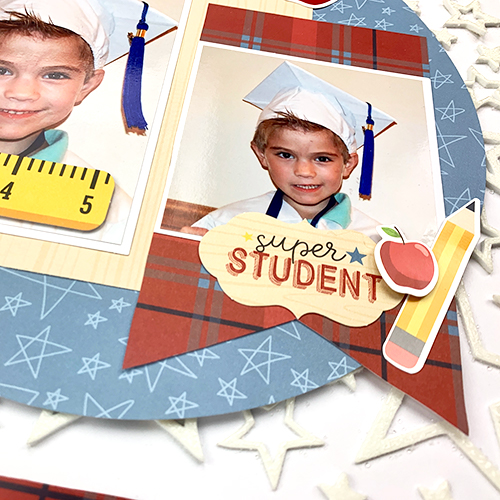 School Days Scrapbook Layout by Christine Meyer using Scrapbook Adhesives by 3L